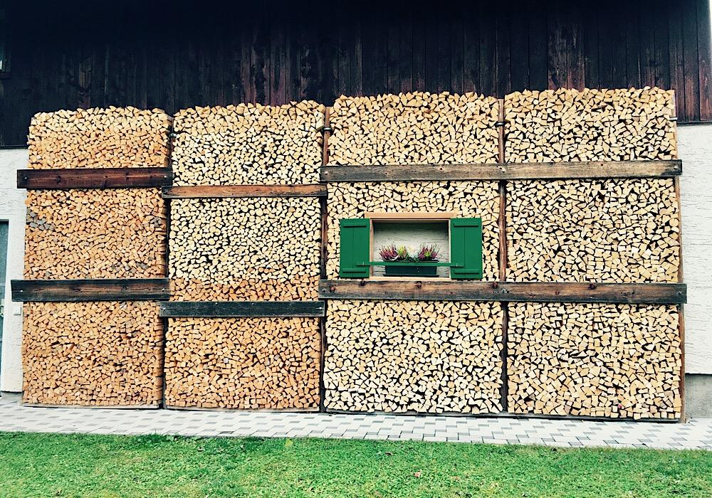 Holzstoß in St. Agatha