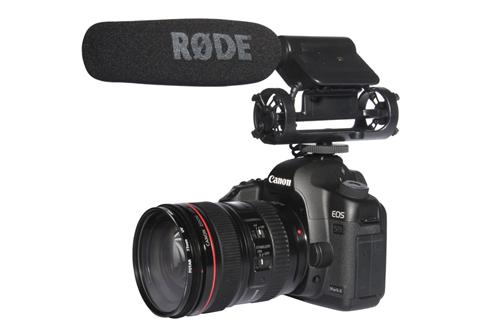 Rode VideoMic on a Canon DSLR