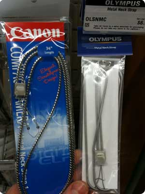 Canon and Olympus Metal Neck Straps