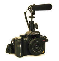 DSLR with Que Audio Mini Shotgun