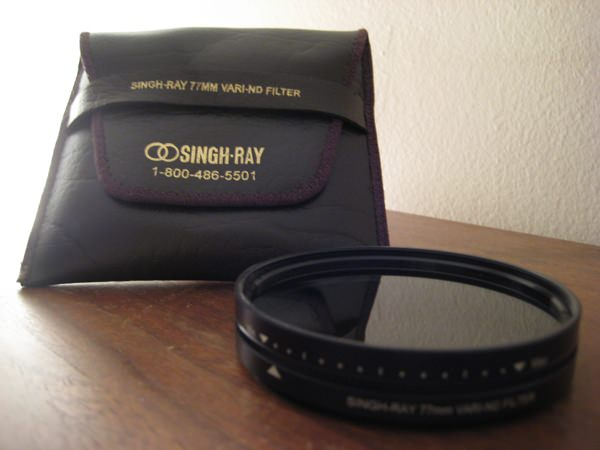 The Singh Ray Vari-ND filter and pouch