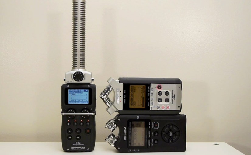 Audio Test: Zoom H5 vs. Zoom H4n vs. Tascam DR-40