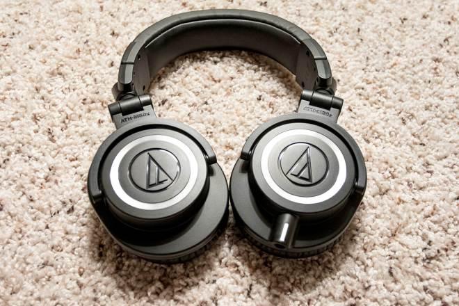 Audio-Technica ATH-M50x headphonesfolded flat