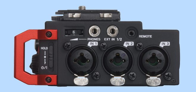Right side of the Tascam DR-701D