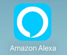 The Amazon Alexa app icon as it appears on Apple devices