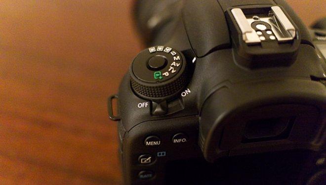 Canon 7D Mark II dial control