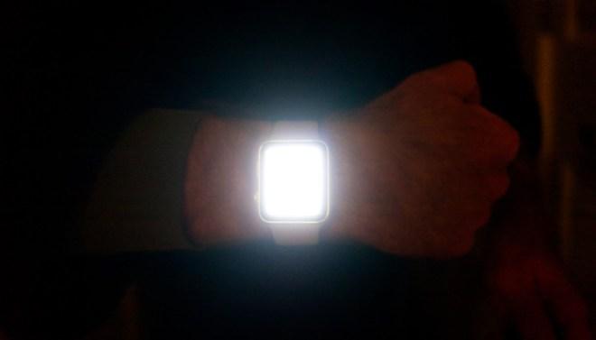 Apple Watch Series 3 in flashlight mode