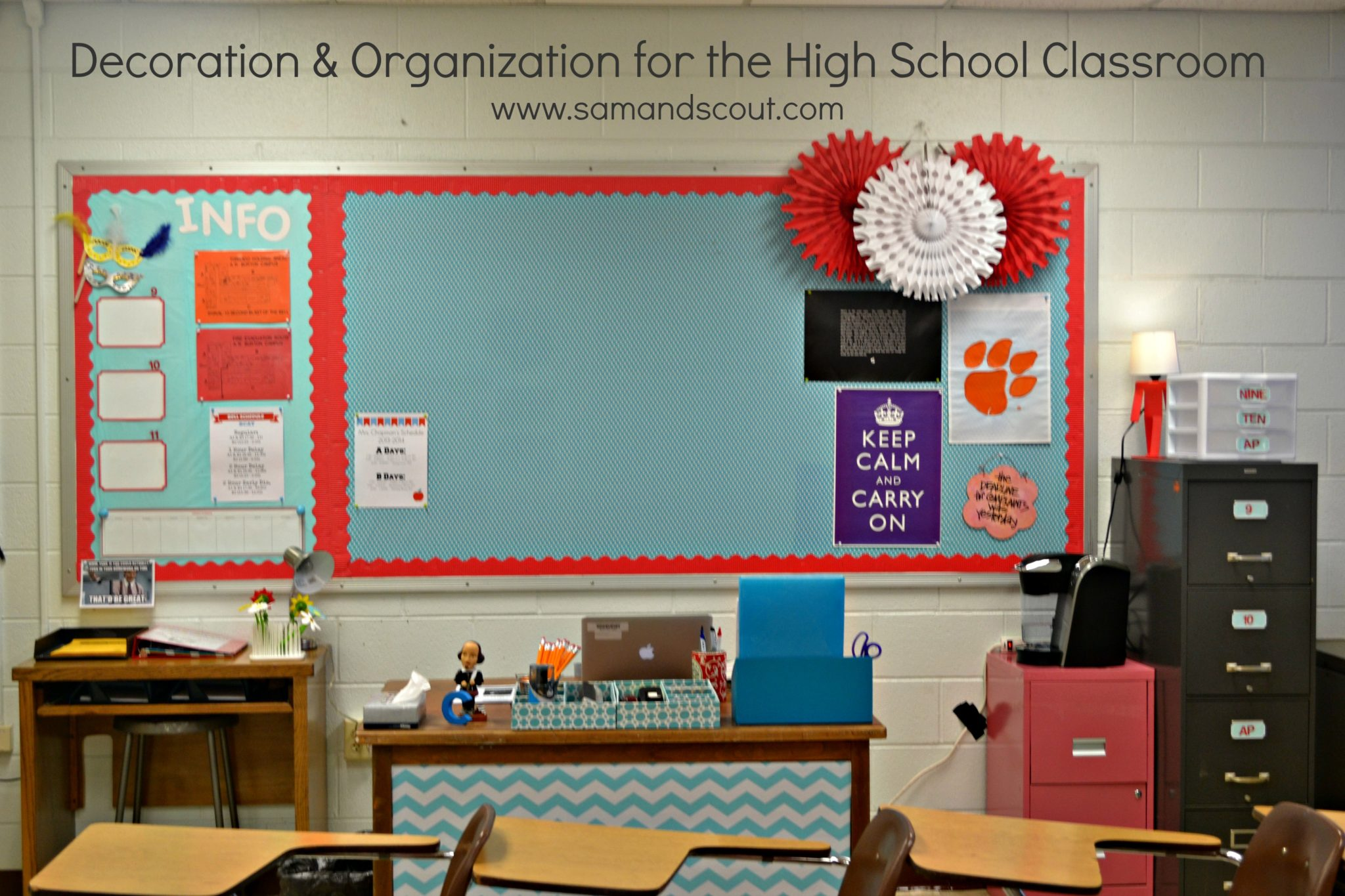 English Classroom Decor ~ Decoration organization for the high school classroom