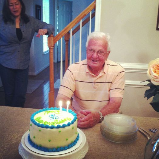Celebrating his 95th Birthday in May of 2013.