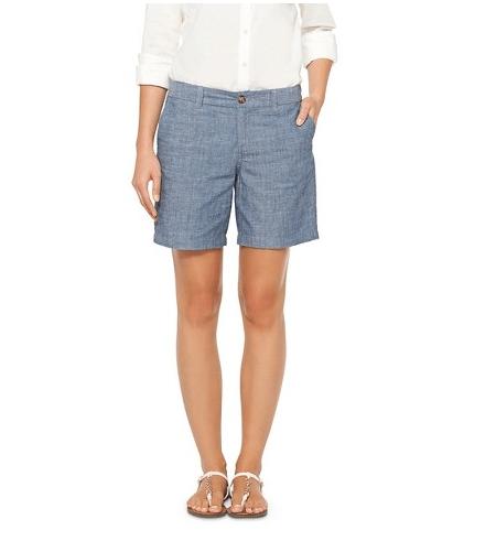 "7"" Merona Chambray Shorts from Target"