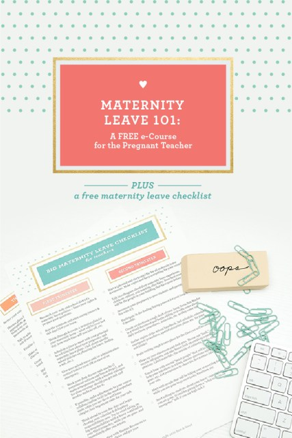 Maternity Leave Free eCourse