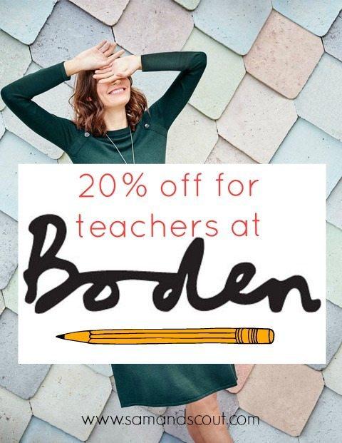 Boden Teacher Discount