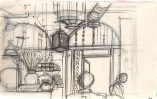 drawing inside of a cafe