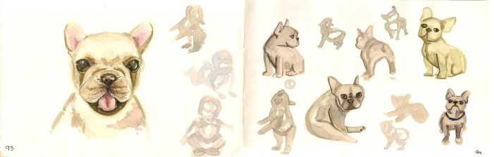 watercolors of puppies