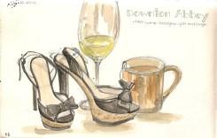 Binge Watching Downton Abbey with Tea