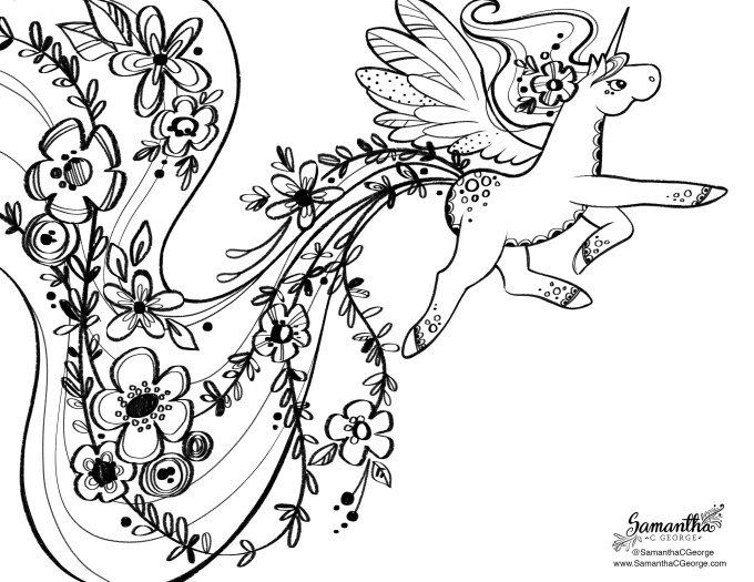 Pony Free Coloring Page - Samantha C George