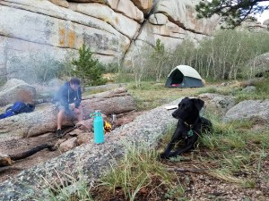 Camping at Vedavoo in Wyoming