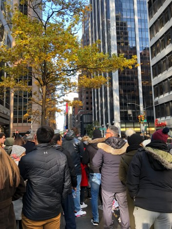 View of distance from Macy's Thanksgiving Day Parade
