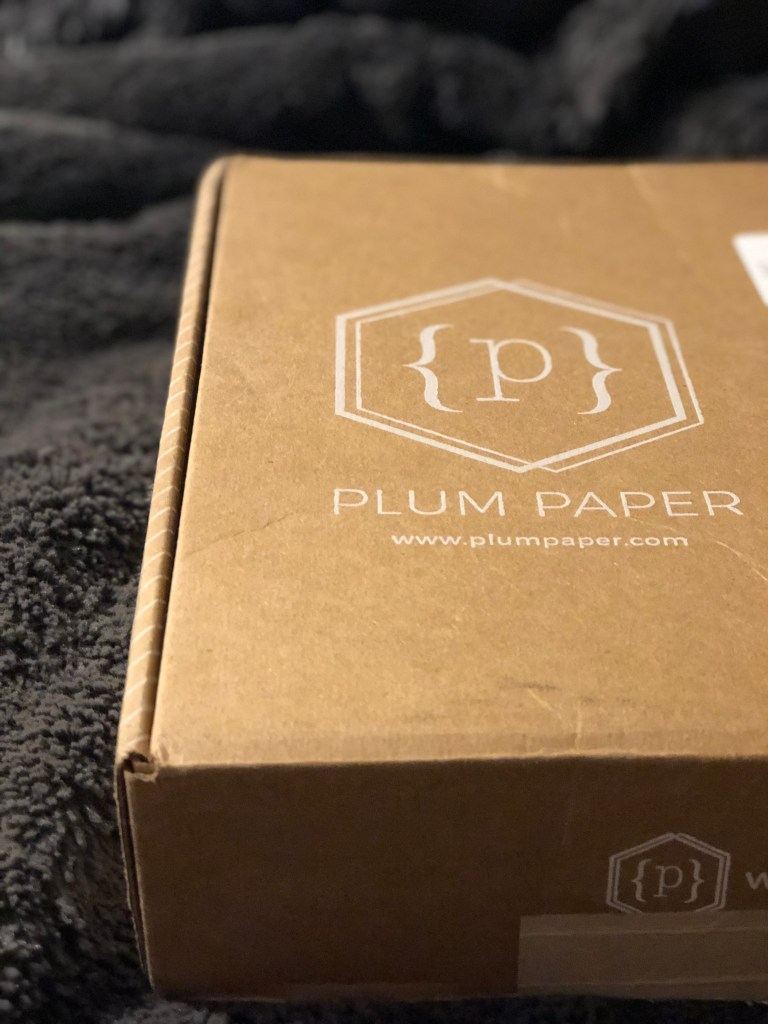 Box of Plum Paper planner