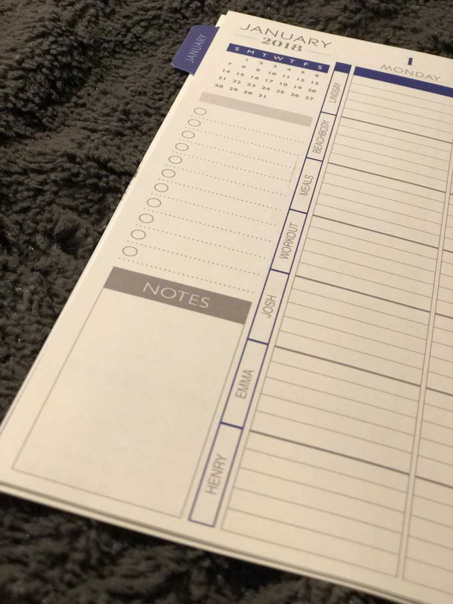 Personalized sections for Plum Paper planner