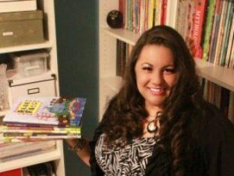 Dianne de Las Casas with her picture books.