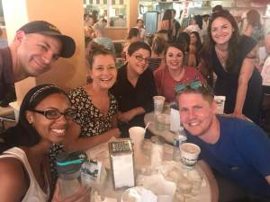 Author friends at Cafe Du Monde in New Orleans.