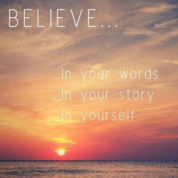 Believe writing advice