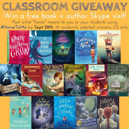 #HomeToMe Mega Middle-Grade Classroom Giveaway
