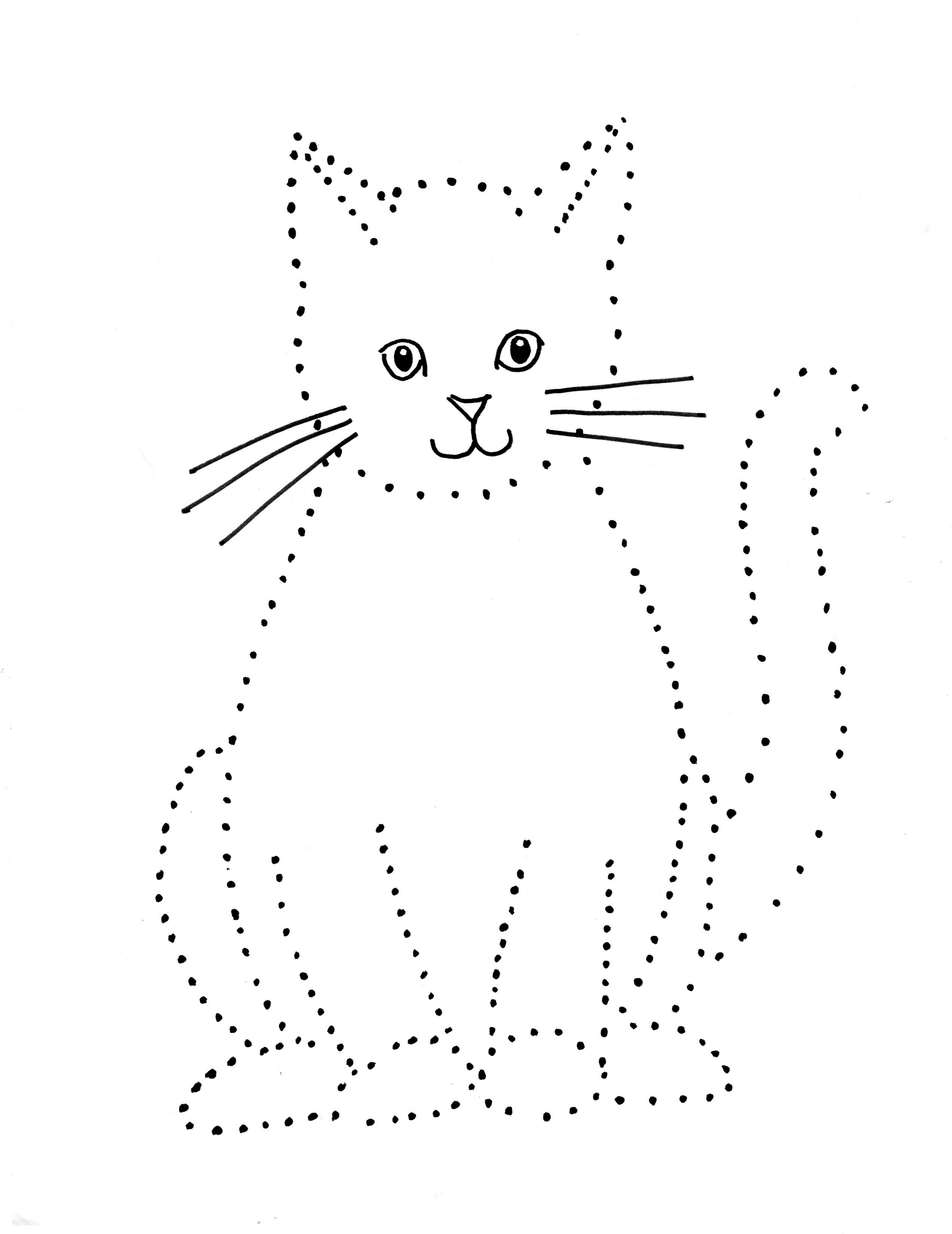Cat Dot Drawing