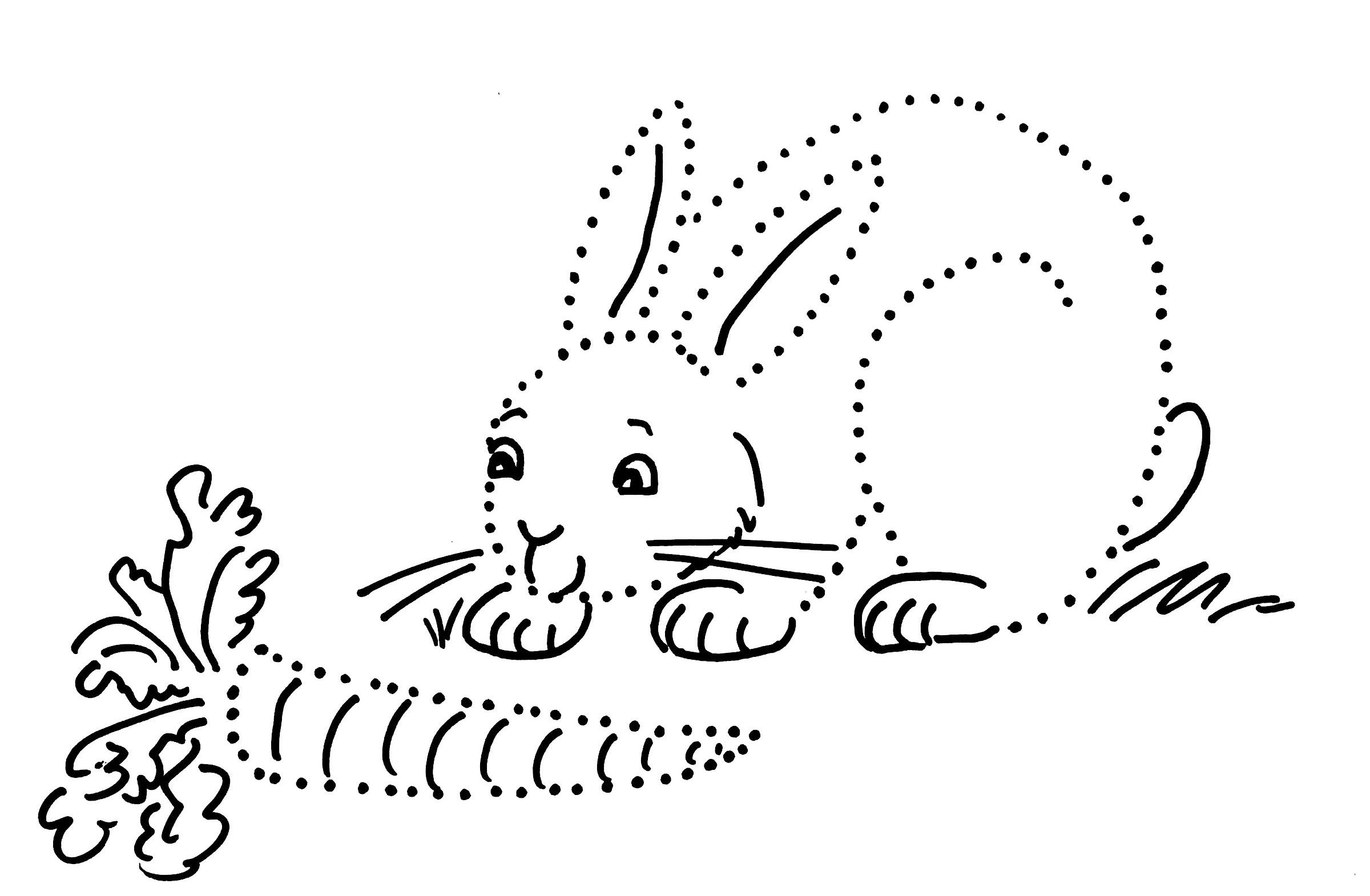 Rabbit Dot Drawing