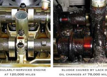 Well maintained vs sludged up engine