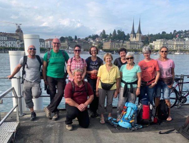 Reisegruppe in Luzern
