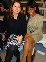 Samata Angel and Editor of British Vogue Alexandra Shulman