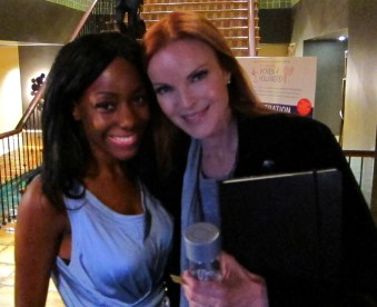 Samata Angel and Marcia Cross