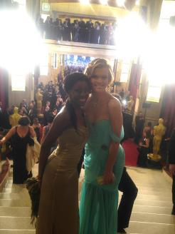 Samata Angel and Missi Pyle at Oscars
