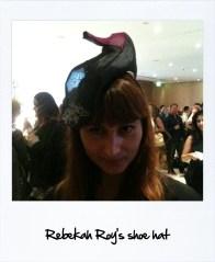 Rebekah Roy's shoe hat