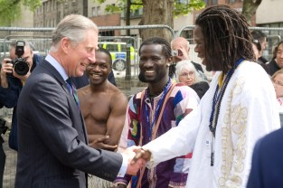 Samba with Prince Charles (in background - Bebe, Mockoulo) - photo by marc marnie