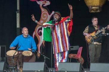 Samba Sene -Knockengorroch 2015, photo by Douglas Robertson