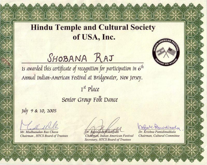dance certificate – Sambhav Raga