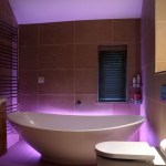 Coloured Bathroom Uplighting by Sam Coles Lighting