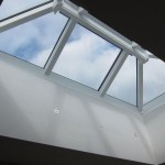 Rooflight window with recessed lights