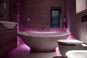 Bathroom uplighting by Sam Coles Lighting 01
