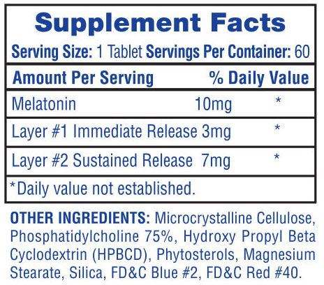 Ingredientes de melatonina de alta tecnologia