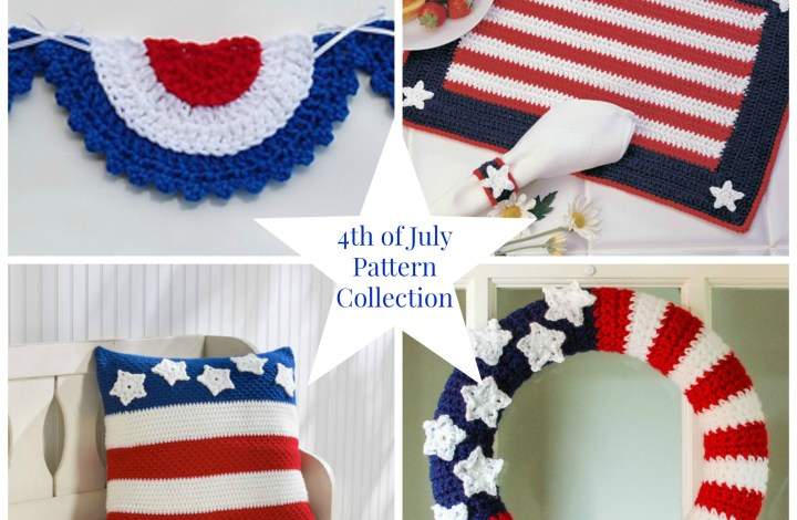 4th of July Crochet Patterns for the Home Collection