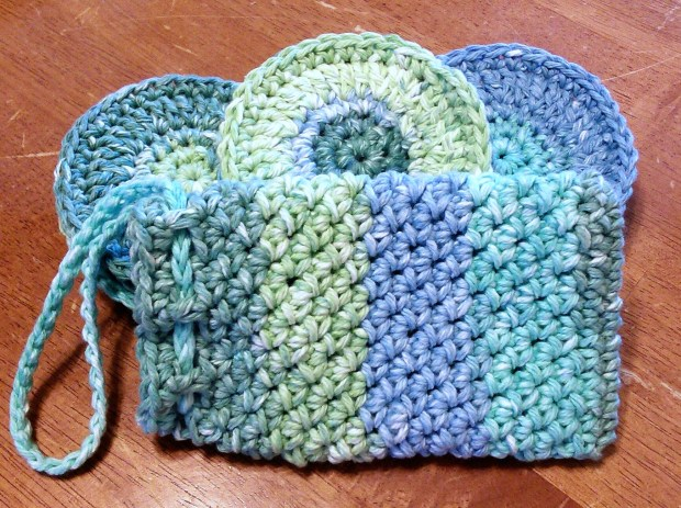 Crochet Face Scrubbie and Soap Pouch/Soap Saver