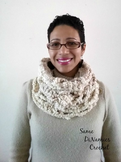 White One Skein Wonder Cowl 1