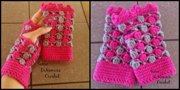 Floating Petals Fingerless Gloves Same DiNamics Crochet