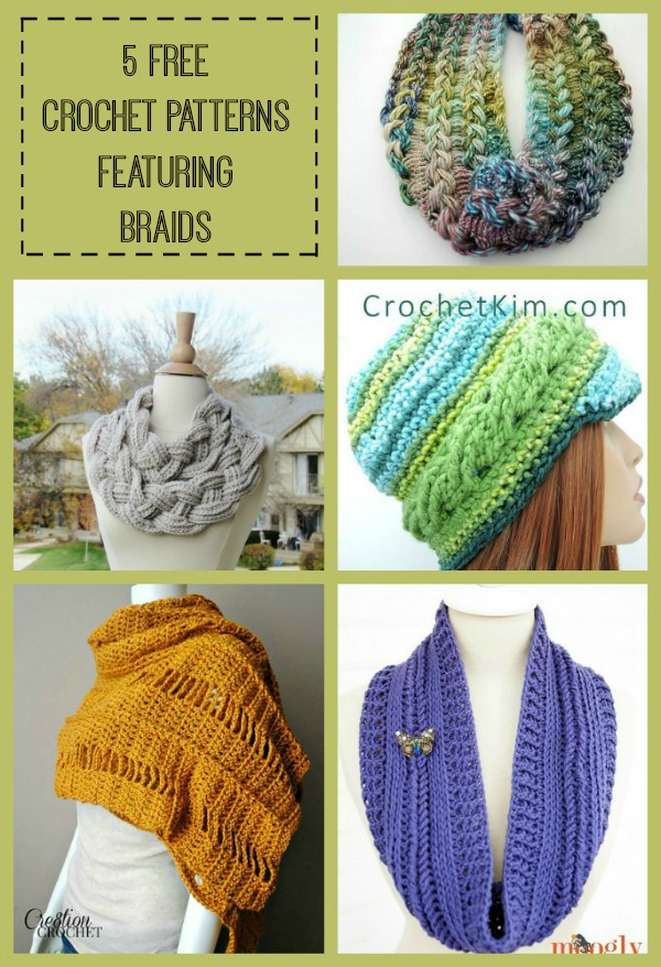 Braided Crochet Patterns Collage