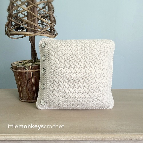 Buttoned Throw Pillow