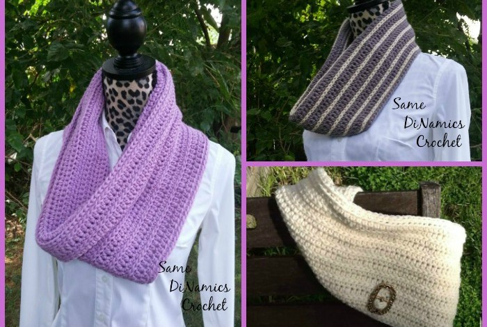 Winter Lilac Cowl Free Crochet Pattern
